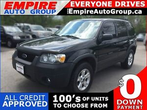 2006 FORD ESCAPE XLT * AWD * PWR ROOF * $0 DOWN LOANS