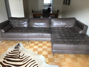 Italian Leather Sectional