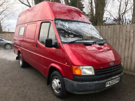 1989 F Ford Transit HIGH TOP 2.0 PETROL ONLY DONE 23k IDEAL CAMPER EX RADIO VAN