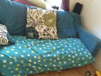 Dogs turquoise sofa bed bed settee