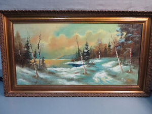 Oil Painting With Antique Frame
