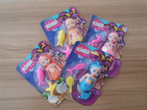 4 Mermaid Toys - Brand New
