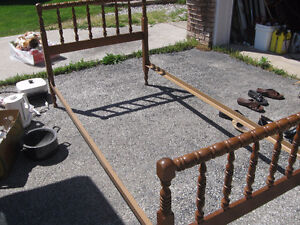 single bed frame and head boards
