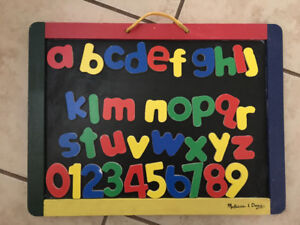Melissa and dough magnetic wooden letters and board