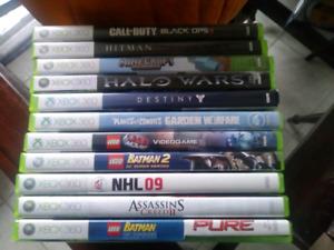 8  jeux Xbox 360 faites un offre