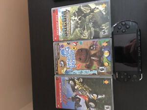 PSP 3001 with 4 games