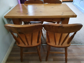 Handmade Solid Pine Table and Chairs