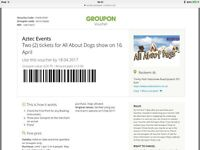 All About Dogs Show 2 tickets - Groupon