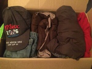 Box full of brand name boys clothes size 12-24 months
