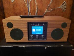 Como Audio Duetto Wireless Music System, Hickory/Black WIFI & BT
