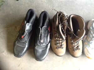 Various sporting shoes