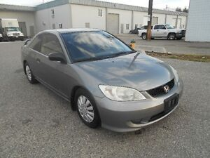 2005 Honda Civic 5 Speed 145000KMS New Winter Tiers Coupe
