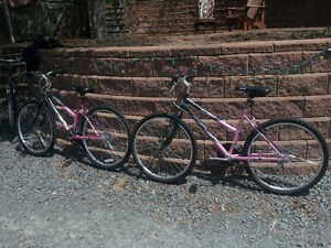 "Two 17"" girls 18 speed bikes/scooters for sale"