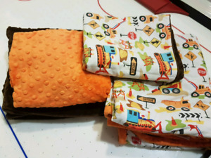Construction Toddler Bed or Crib Bedding CustomMade