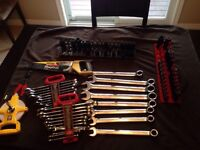 Lot of Large Mastercraft Wrenches, Impact Sockets & More