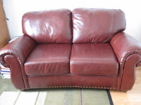 Brand New Red-Brown Genuine Leather Sofa / Couch - Laval, QC