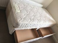 Single divan bed with drawers-Free delivery