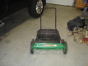 20 inch scotts push reel lawn mower with grass catcher