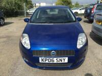 2006 Fiat Grande Punto Hatch 5Dr 1.4 8V 77 Dynamic Petrol blue Manual