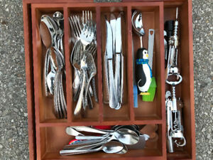 Cutlery Set Stainless Steel Extendable  Rack LOTS OF ITEMS WOW