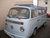 Volkswagen T2 Bay window Campervan Blue