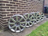 Genuine TT alloy wheels, 5x100 golf Bora Audi A3 Leon wheels