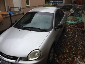 Grey 2002 Chrysler neon