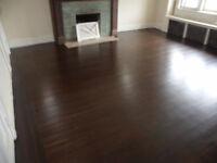 sablage de plancher ////// Floor sanding   teinture