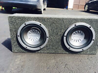Pioneer 10inch Subwoofer's w/ Box