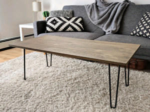 Industrial Coffee Table with Hairpin Legs, only $200!