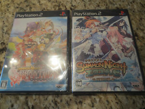 Lot 2 Sony Playstation 2 SUMMON NIGHT GRANTHESE JAPAN GAME