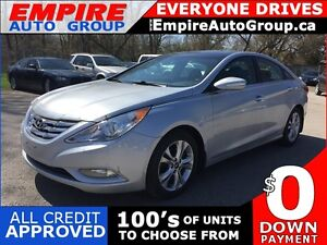 2012 HYUNDAI SONATA LIMITED PZEV * LEATHER * SUNROOF * NAV * REA