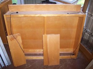 Hardwood shelves wall unit sold as a pair or separately.