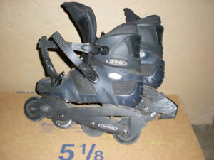 3 pairs of rollerblades from Italy and soccer ball