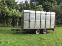 Ifor Williams livestock trailer 12' flatbed canopy gates decks demountable ivor