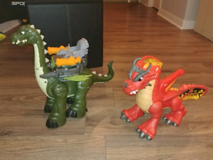 Dragon et dinosaure