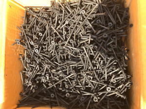 "Box of 3"" drywall screws"