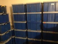 Storage boxes 42 litre stationary boxes.