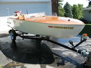Handmade mahogany runabout/motor/trailer for sale