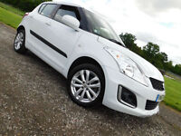 2013 63 SUZUKI SWIFT 1.2 4X4 SZ3 5 DOOR WHITE FSH
