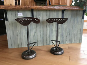 Antique Tractor Seat Bar Stools