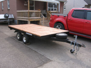 10 L x 5.7  W HOME MADE FLAT BED TRAILER TANDEM AXLE