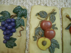 Fruit plaque set-for wall