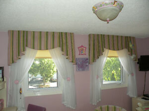Striped-Patterned Valances - 20 months old
