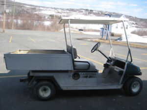 """Carryall"" Gas Powered ""Club Car"" w/electric Dump"