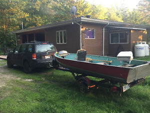 Fishing package SUV/ boat 2000$