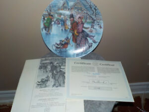 "STEWART SHERWOOD ""SKATING ON THE POND"" COLLECTOR PLATES LTD."