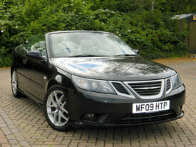 2009 09 Saab 9-3 1.9 TiD Vector Sport Convertible 2dr WITH FSH+LEATHER