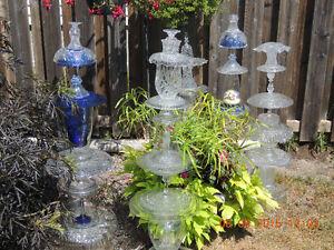 Glass Garden Totems & bird baths