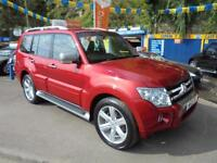 2011 11 MITSUBISHI SHOGUN 3.2 DI-D LWB DIAMOND AUTO IN RED # TOP SPEC MODEL #